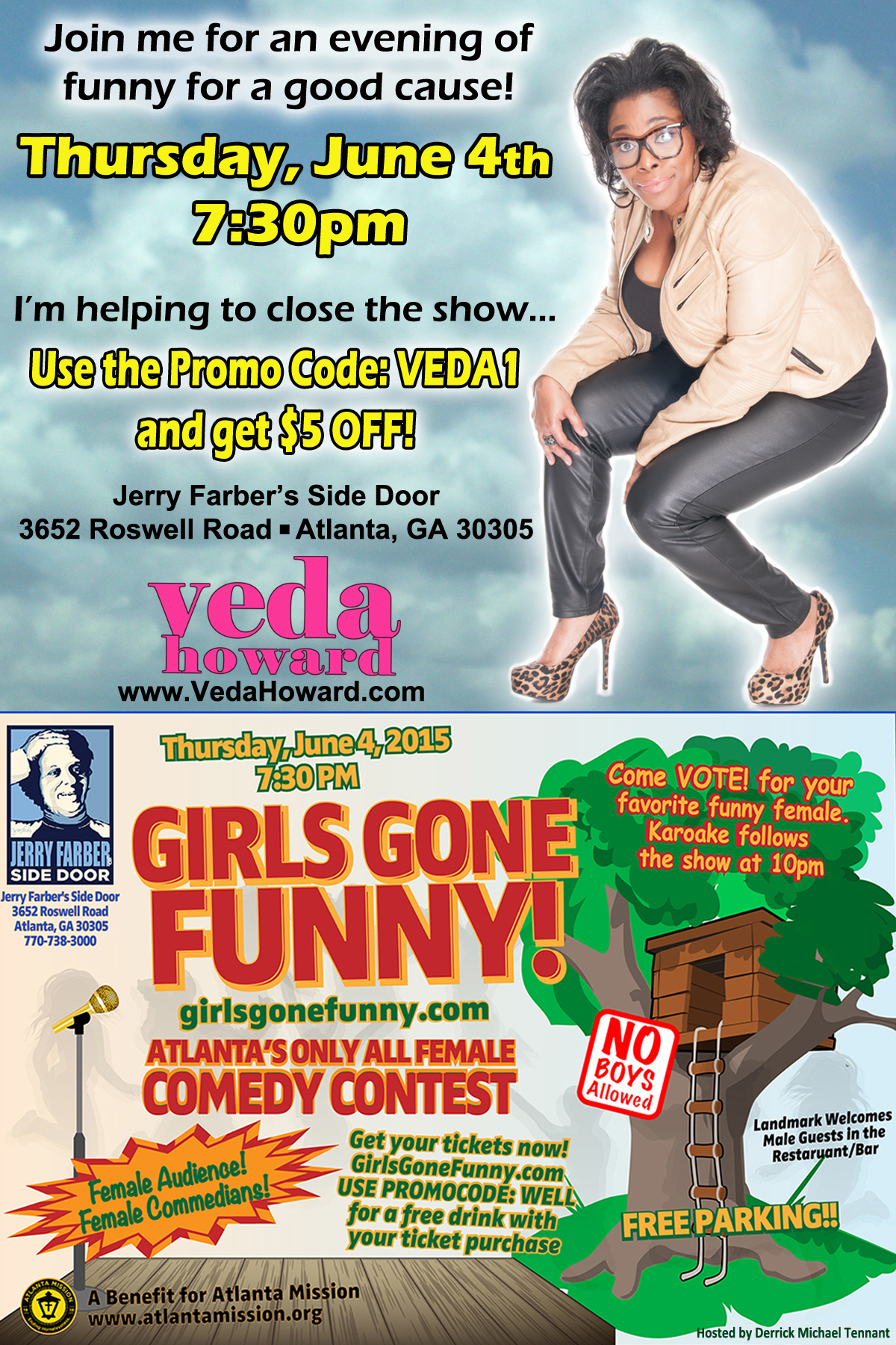 Girls Gone Funny flyer